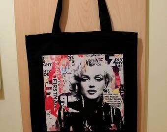 Marilyn Monroe Tote Bag, Marilyn Monroe Shopping Bag, Marilyn Monroe Gift, 100% Cotton Tote Bag, Canvas Tote Bag, Cotton Market Tote Bag
