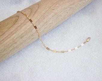 SALE Gold Bracelet • Gold Chain Baby Bracelet • Gold Chain Toddler Bracelet • Gold Chain Bracelet • Gold Chain Stackable Baby Bracelet