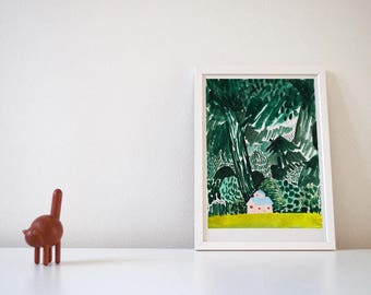 A house in the forest Giclee print