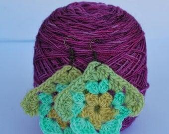 Crochet Pastel Cupcake  Earrings