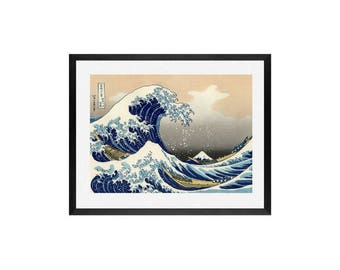 The Great Wave off Kanagawa by Katsushika Hokusai - Art Print , framed wall art. Japanese art prints, Art print, Art Prints, Wall Art,art