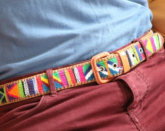 Mexican hand embroidered belt