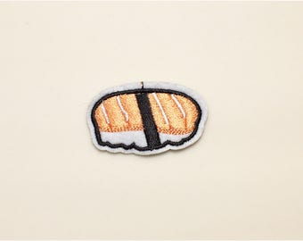 Sushi patch - iron on patch, food patch, embroidered patch, iron on applique, patch for backpack, patch for kids, cute patch,  salmon patch