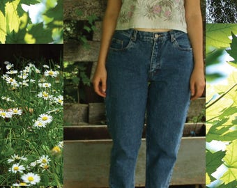 "90s High Waisted Mom Jeans- Denim Women's Pants 29"""