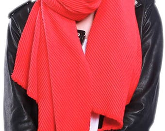 Warm Winter Red Scarf for Women,Oversized Scarf,Blanket Scarf,Winter Scarf Sale,Womens Scarves,Ladies Wraps Shawls,UK Seller,Gift for Her
