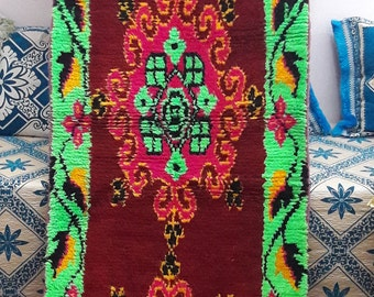 BOUCHEROUITE RUG MOROCCAN carpet carpets rugs berber Handmade 2'7 x 10'5