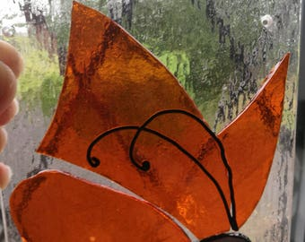 Fused glass butterfly sun catcher