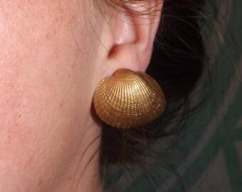 Emperor gold seashell earrings