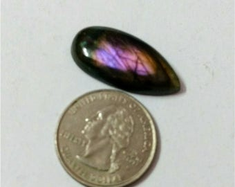 30.25 x 14.85 Tear drop ,pear shape purple Labradorite/purple flash labradorite cabochon/AAA  violet Labradorite/purple labradorite cabochon