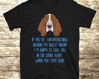 Basset Hound T Shirt, Basset Hound Shirt, Basset Hound T-shirt, Basset Hound Tshirt, Basset Hound Lover GiftFunny Basset Hound Shirt