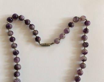 Mauve Murano Bead Necklace [SKU233]