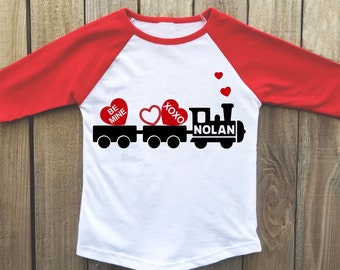 Kids valentine shirt, Boys valentine shirt, valentines day shirt, valentine train, boy valentine, valentines shirt, toddler valentine shirt