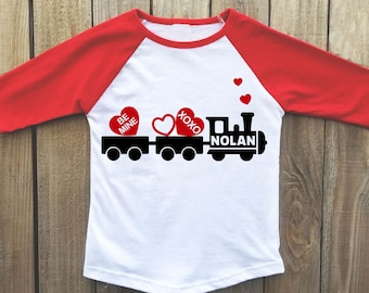 kids valentine shirt boys valentine shirt valentines day shirt valentine train boy