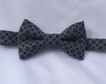 gray polka dot bow tie