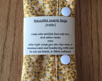 Medium reusable snack bag