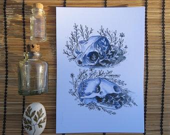 Sprouting Skulls- Print