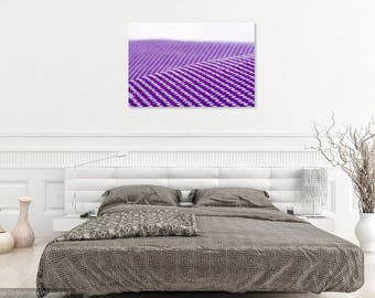 "Abstract Surreal Purple Canvas Print: ""Electrified Cocoon Fields"""