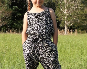 Girls Jumpsuit T back style