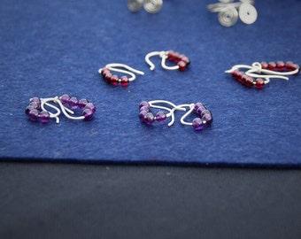 Roman Silver earrings 925 Sterling and fine stones