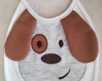 Bib - Dog Baby Bib - Gender Neutral Bib - Shower Gift - Handmade Bib-Funny baby bib-Baby Gift