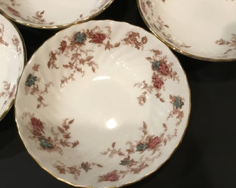 4 Ancestral Minton Bone China Berry Fruit Dessert Bowl Excellent Condition S-376