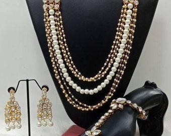American Diamond & Pearl combo set