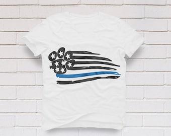Thin blue line svg, K9 svg, Back the blue, Paw print svg, Dog svg, Police svg, American Flag svg, Law Enforcement, SVG, DXF, eps, png, pdf
