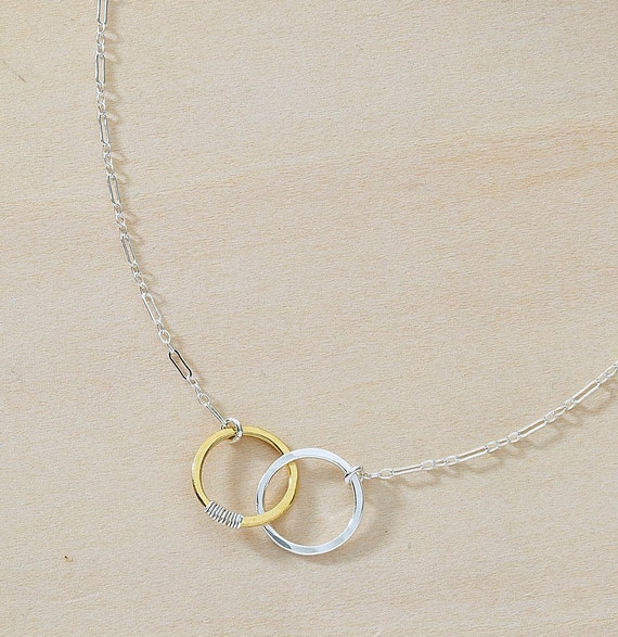 Sparky amie linked circles pendant friendship meaning silver like this item aloadofball Image collections