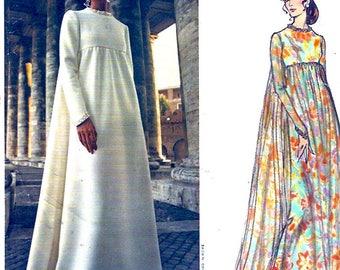 60s Mod Fabiani Designer Evening Dress vintage Vogue 2537 Couturier sewing pattern Designer UNCUT Bust 34
