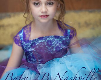 Aqua Dress Plum Dress Purple Lace Dress Tulle Dress Flower Girl Dress  Wedding Dress Party Dress Turquoise Dress Baby Tutu Dress Girls Dress