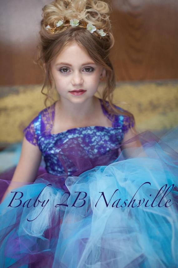 Aqua Dress Plum Dress Purple Lace Dress Tulle Dress Flower Girl Dress  Wedding Dress Party Dress Turquoise Dress Baby Tutu Dress Girls Dress