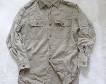 Vintage Washed Twill Military Shirt