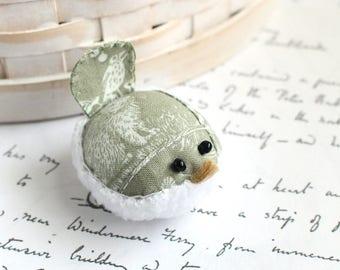 Small Pincushion Rustic Bird Pincushion Pin Keep Kawaii Bird