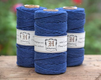 Hemp Cord 2mm,   205 feet,  48lb, Hemp Rope, Nautical Twine,  Thick Hemp Cord -T79