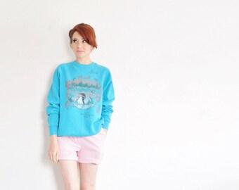 Iris' nature camp sweatshirt . autumn lakeside counselor sweater .medium.large