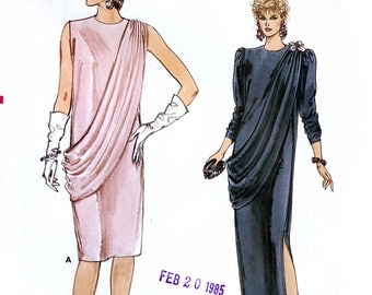Vogue 9047 Sewing Pattern for Misses' Evening Dress - Uncut - Size 8, 10, 12