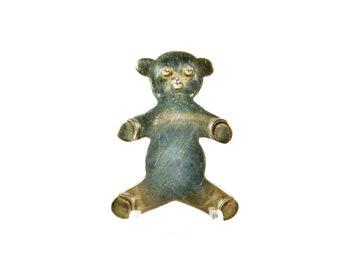 Teddy Bear Brooch, Sterling Silver, Vintage Brooch, Teddy Bear Pin, Vintage Jewelry, 925 Silver, Bear Brooch, Bear Pin, Sterling Brooch
