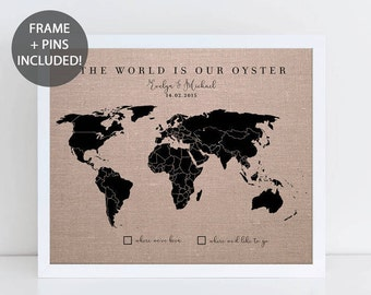 World map poster by mapsofworld 37 eyecatching world map posters framed map etsy world map poster framed gumiabroncs Gallery