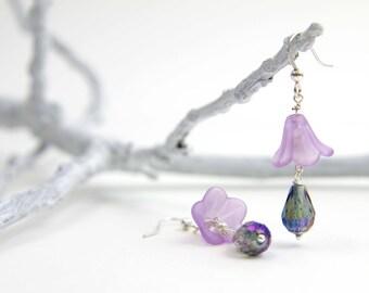 Teardrop Violet Earrings