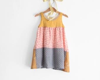 Girls dresses, little girl dress, girls summer dress, toddler dress, girls sundress. Sustainable clothing, made in Italy. Ready to ship.
