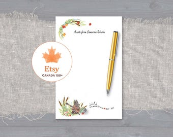 Canada 150 Personalized Notepad or Loose Writing Sheets Musical Wolf playing on his guitar O Canada!