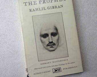 The Prophet Kahlil Gibran 1962 Illustrated Edition Knopf Black Cloth Gold Embossed Hard Cover Spiritual Wedding Graduation Poetry
