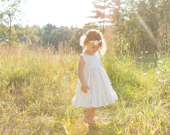 Flower Girl dress, boho flower girl dresses, white ivory, boho flower girl dresses, white flower girl dress, ivory flower girl dress
