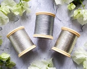 DMC Silver Thread | Silver Metallic Thread | Pack of 2 | DMC Vintage Spool Thread | Embroidery Cross Stitch Needlework Thread Spool