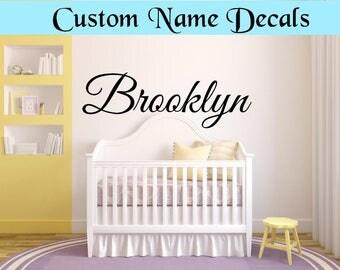 Custom Name Decals wall decor nursery decor kids room baby decor custom color self adhesive vinyl custom name sticker kids name decal