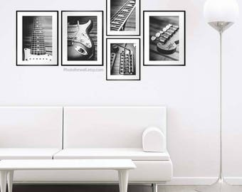 Fender guitar office decor/Fender electric guitar/black and white photography/Fender photo/guitar decor/large wall decor/large wall art/