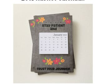 Refrigerator 2018 Calendar Magnet | 2018 Calendar Magnets | 2018 Calendar with Magnet | Mini Fridge Calendar | 4x6 Calendar | Calendar