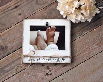 Love At First Sight Pregnancy Announcement Frame Baby Shower Gift Ultrasound Frame Newborn Frame Sonogram Customized Frame