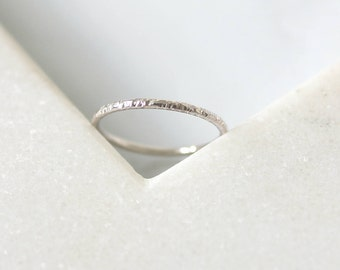 Textured Ring • Unplated 9K White, Rose or Yellow Gold