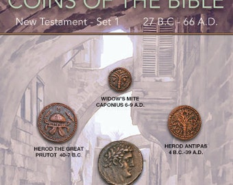 DM B 001 Coins of the Bible - Redemption Comes 5x7